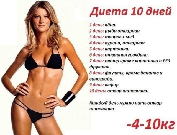 Как похудеть за 6 дней на 10 кг в домашних условиях